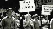 Protestors for gay rights