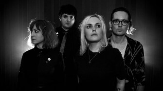 Black and white photo of the band Desperate Journalist