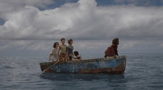 the children in a boat