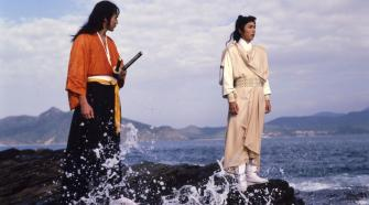Ching Wan and Hashimoto looking out to sea