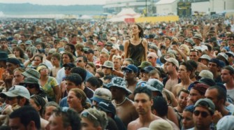 the festival crowd behaved themselves to begin with