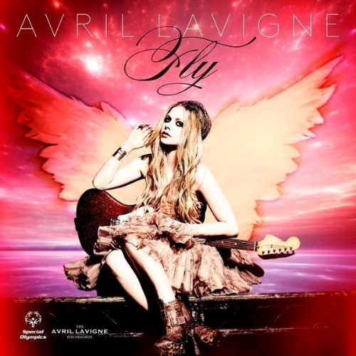 "Avril Lavigne cover art for ""Fly"" photo by Mark Liddell (PRNewsFoto/Special Olympics)"