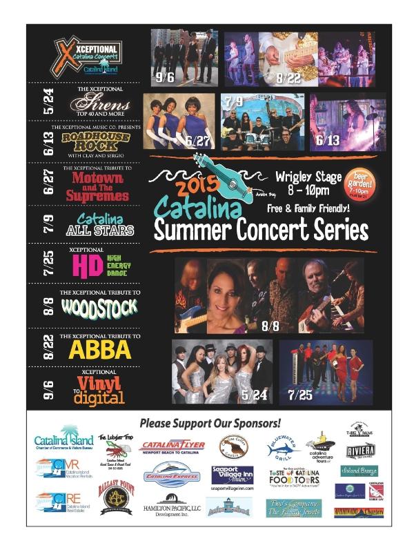 Catalina Island Summer Concert Line-up (PRNewsFoto/Catalina Island Vacation Rentals)