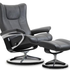 Ergonomic Chair With Footrest Wedding Covers.com Stressless Wing Power Legcomfort Recliner By Ekornes