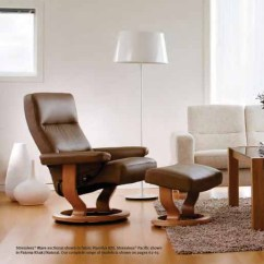 Ergonomic Chair Norway Land Of Nod Rocking Stressless Pacific Recliner Lounger And Ottoman By Large Khaki Paloma Leather With Ekornes