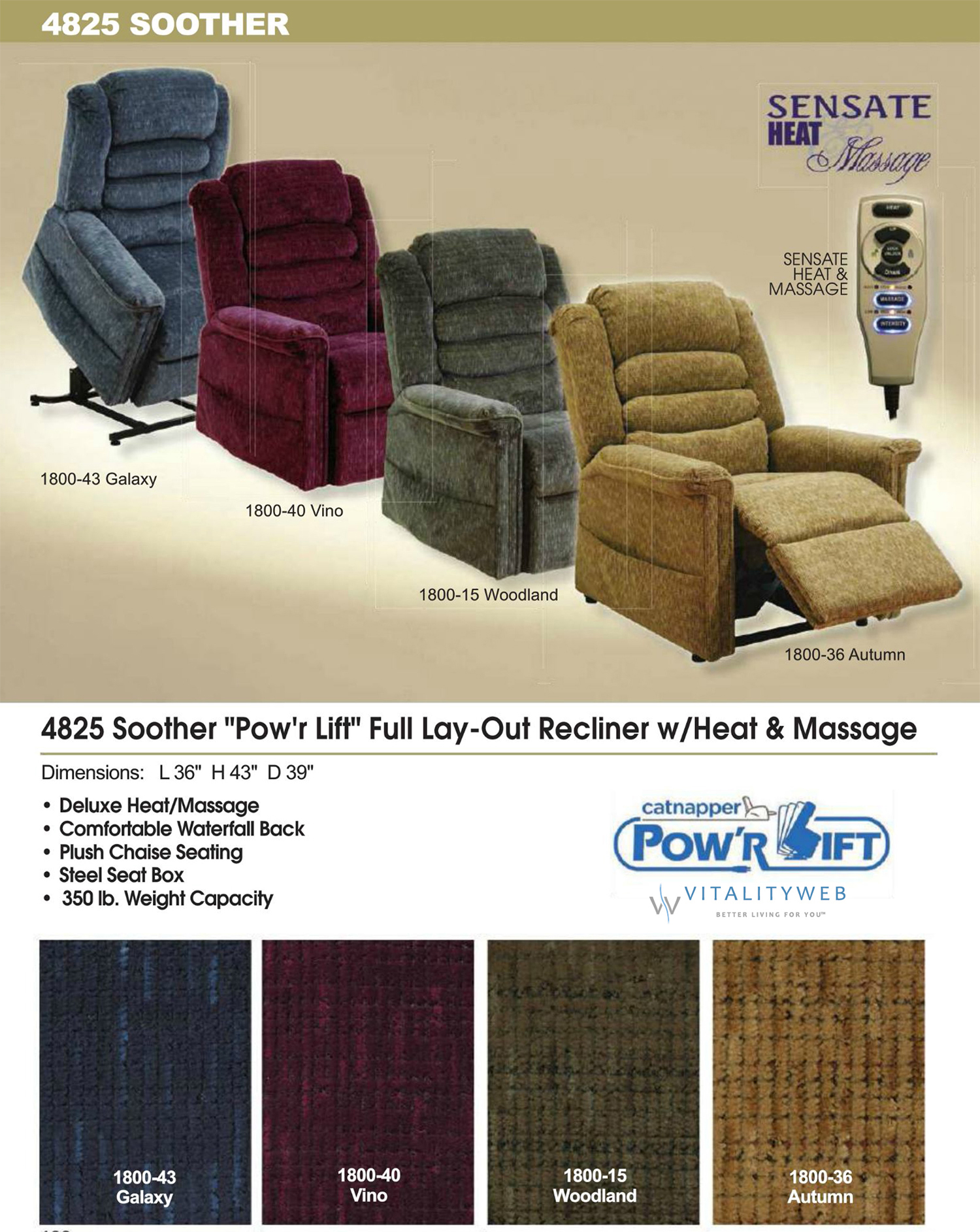 massage chair with heat cover hire durham catnapper soother 4825 power lift recliner and information