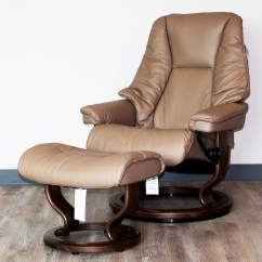 Reclining Chair With Ottoman Leather Mid Century Modern And Ekornes Stressless Live Recliner Lounger Medium By