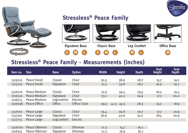stressless chair sizes retro step stool peace recliners chairs ekornes recliner and ottoman size dimensions
