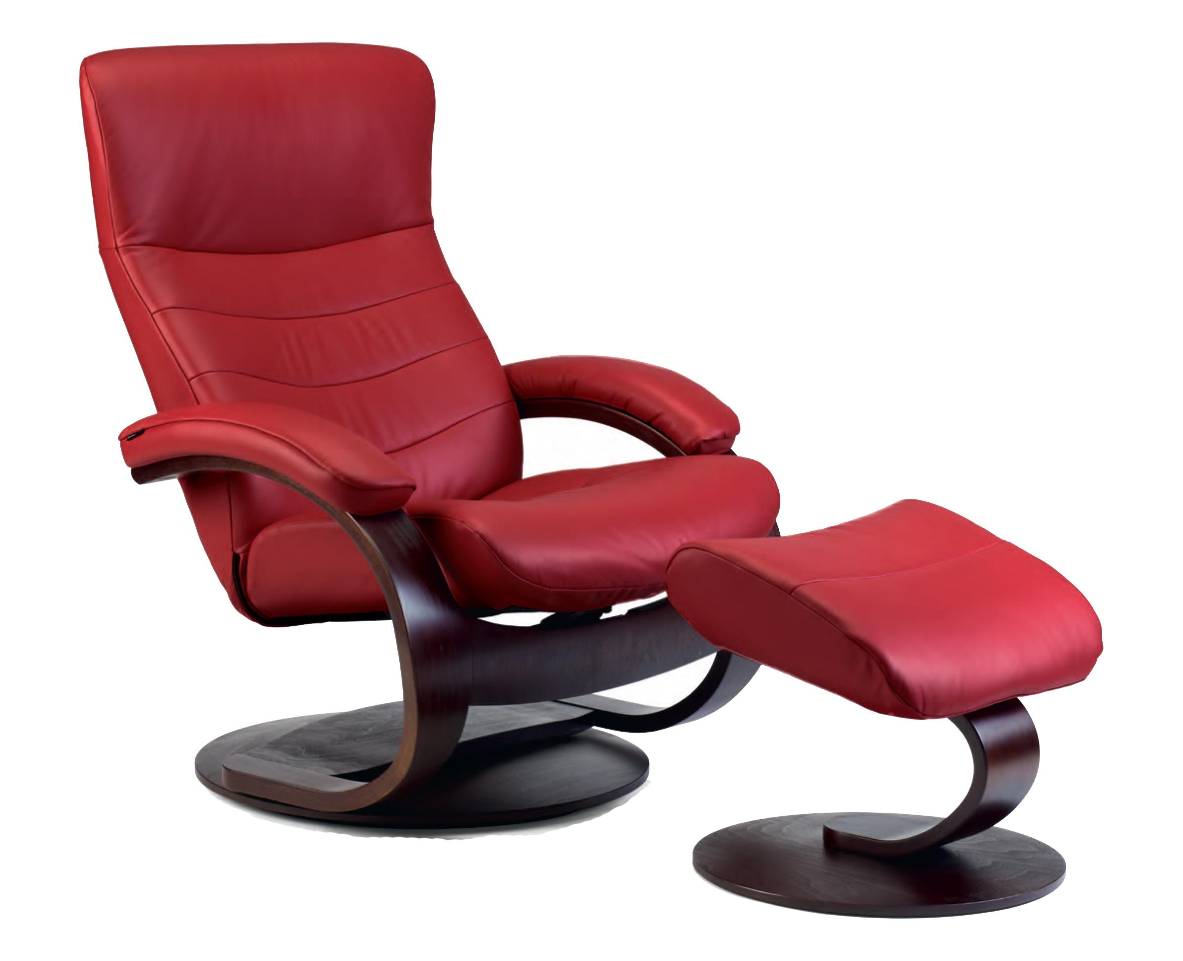 ergonomic recliner chair brown bean bag fjords trandal leather c frame ottoman and scandinavian lounger