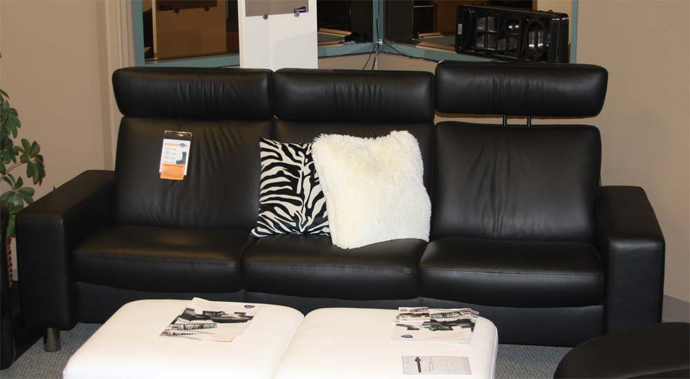 high back sofa and loveseat check fabric sofas ekornes stressless space chair sectional chairs
