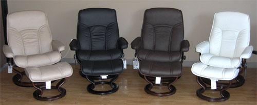 stressless chair sale lazy boy accent chairs ekornes governor and senator recliner lounger ottoman in brandy red sand black chocolate light