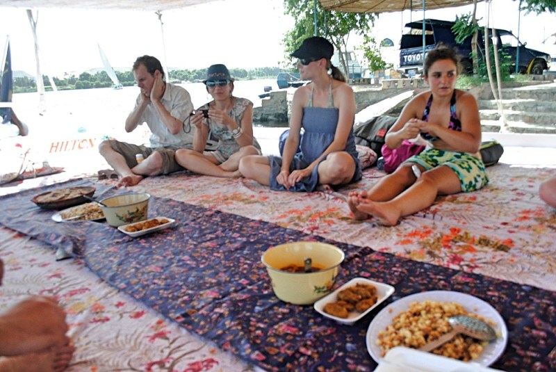 Lunch on the felucca on the nile