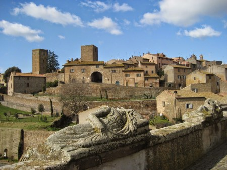 Etruscan tombstones in the town of Tuscania