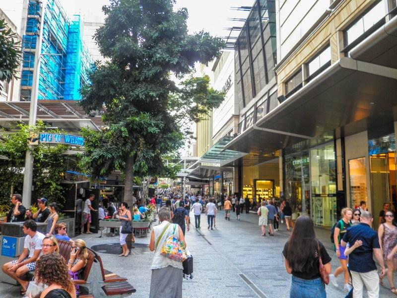 Queen St Pedestrian Mall Brisbane