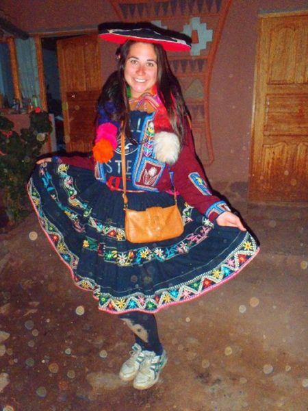 Dressed in Traditional Peruvian Clothing