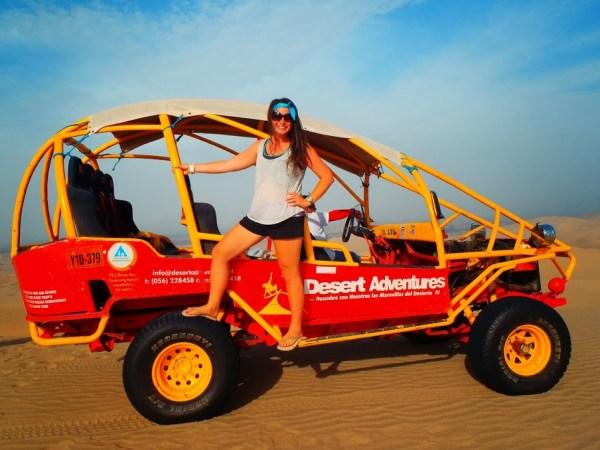 Dune Buggying in Desert Peru