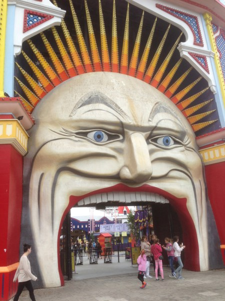 Historic entrance to Luna Park St Kilda, Melbourne