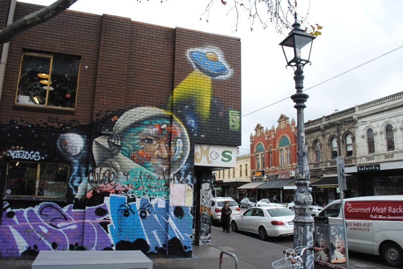 Brunswick street melbourne grafitti art