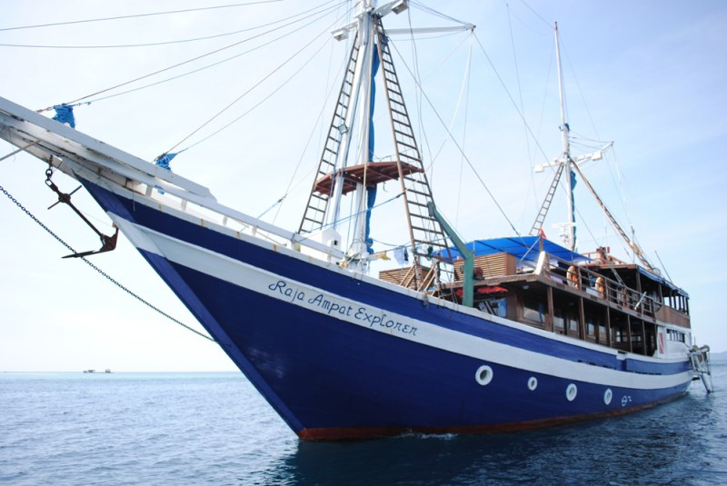 The Raja Ampat Explorer yacht in Labuan Bajo, Indonesia