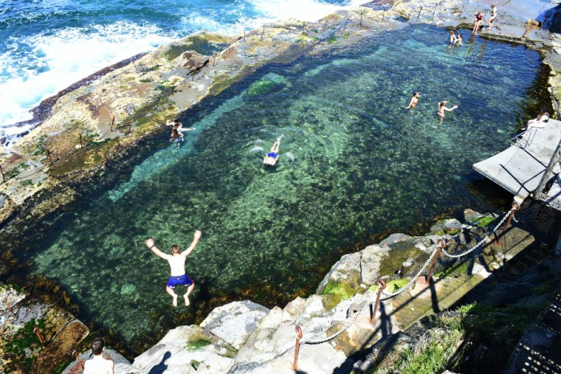 Swimming in the Bogey Hole is one of the favourite things to do in Newcastle for locals