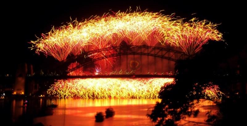 Sydney Harbour Bridge Fireworks New years eve