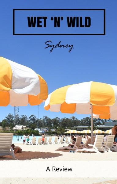 Wet n Wild Beach Sydney - the biggest beach umbrellas I've ever seen
