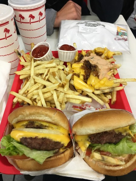 In n Out Double Doubles and animal fries