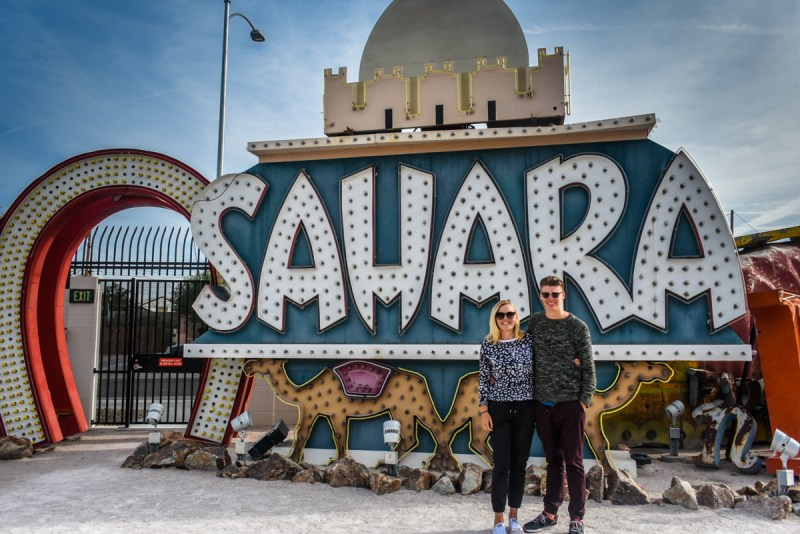 Us at the Las Vegas Neon Museum