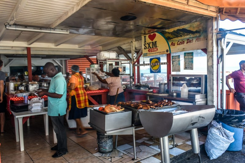 Incredible local food at Grand Case St Martin