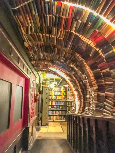 The Last Bookstore Downtown LA book tunnel