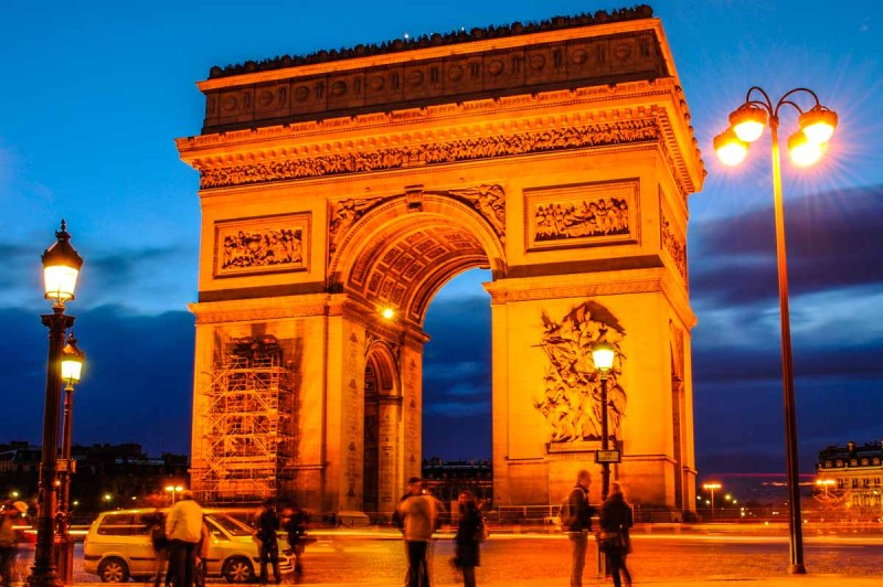 Arc du Triomphe at Night