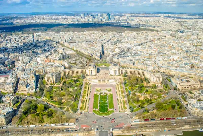 View of the Palais de Chaillot from the Eiffel Tower