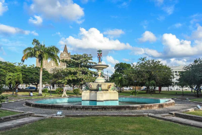 Broken Fountain at Independence Square Basseterre St Kitts