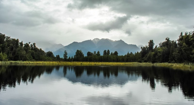 Lake Matheson with Mt Cook in the background