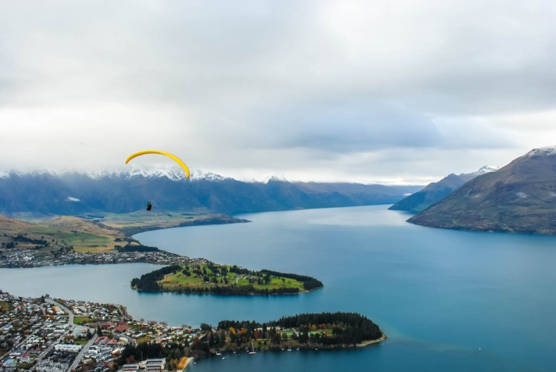 Lake Wakatipu from the Queenstown Skyride, New Zealand South Island