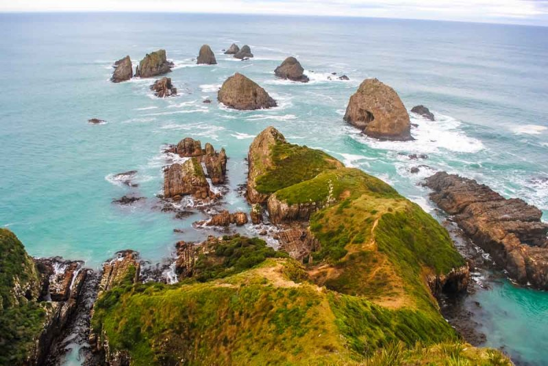 Nugget Point rocks in the Catlins
