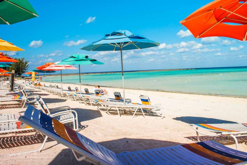 Serenity Bay Deck Chairs on Castaway Cay Bahamas