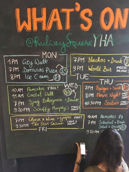 Whats on at Railway Square YHA this week
