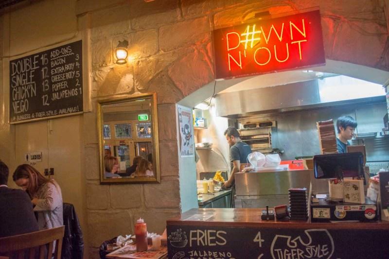 Down'n'Out Burger Sydney CBD