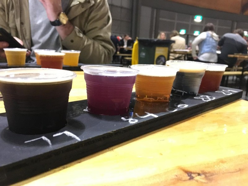 Beer Paddle samples at GABS Beer Festival Sydney