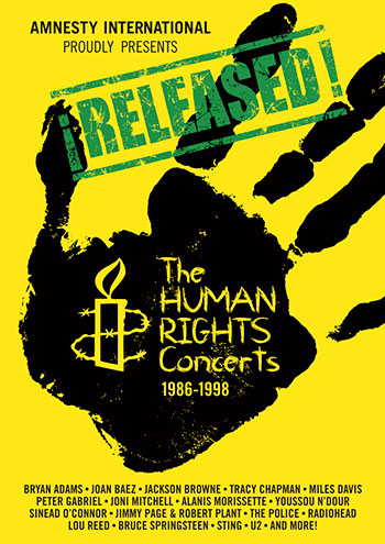 DVD: RELEASED! The Human Rights Concerts, 1986-1998 (6-disc box set)