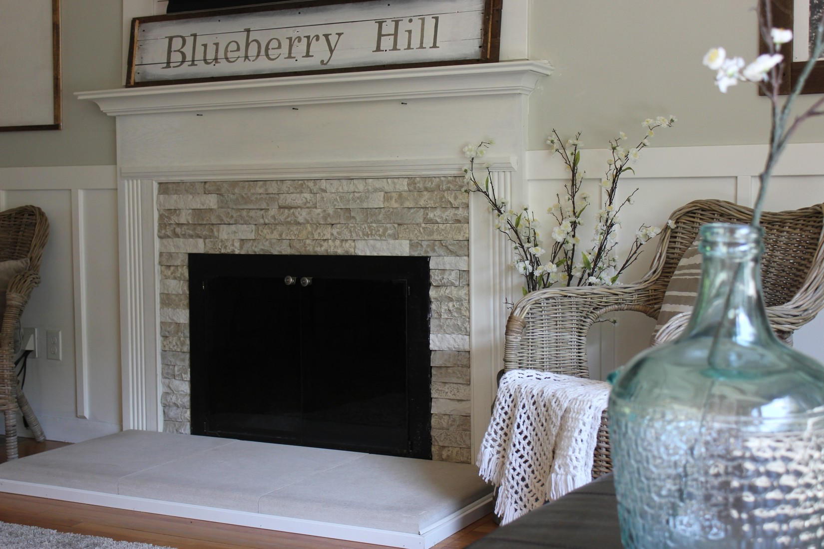 Green is the New Green  Updating a Fireplace with AirStone  Back to Blueberry Hill