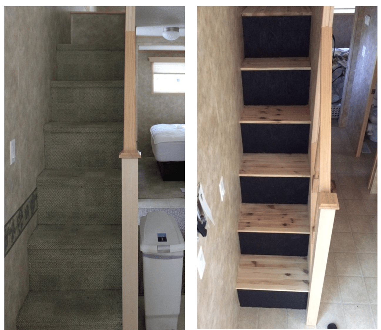 Reclaimed Wood Staircase Update At The Tiny House