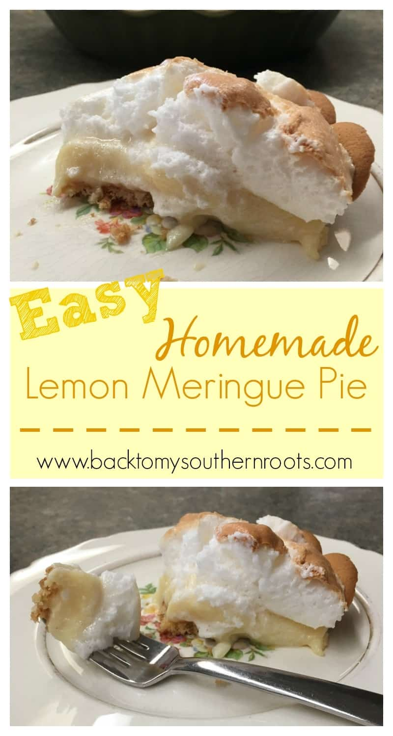 Easy homemade lemon meringue pie is just that--easy. It's a simple recipe that will take about five minutes to make, and about 15 minutes to cook. Everyone at the church potluck, or party will love this recipe for delicious lemon meringue pie.