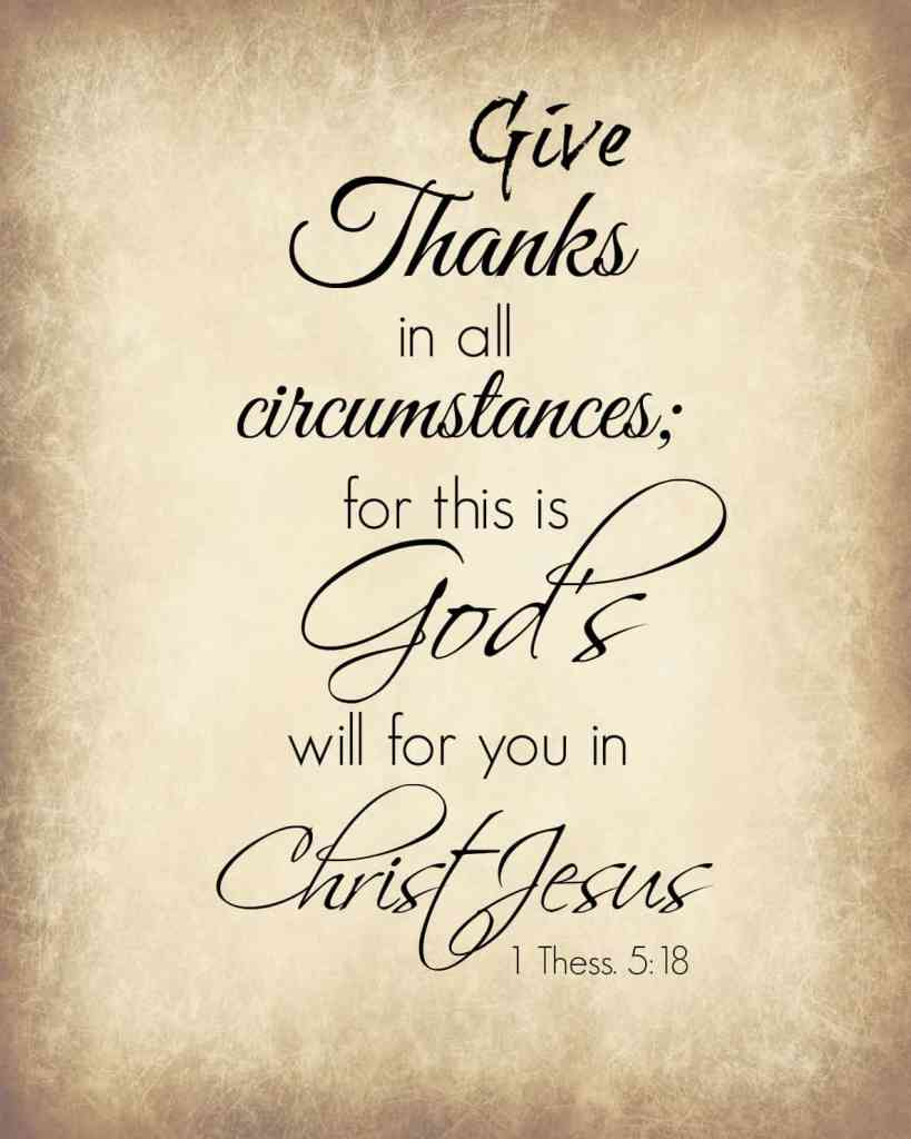 Give Thanks Free Printable from Back to My Southern Roots