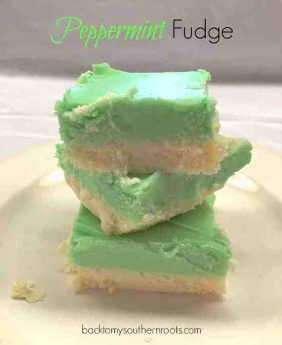 White Chocolate Peppermint Fudge is good anytime of the year. Add a little peppermint and get a twist on your old favorite.