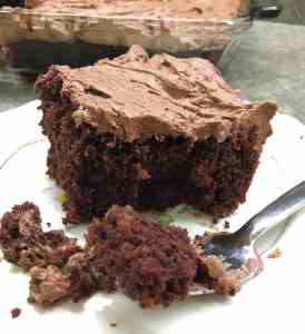 Easy Homemade Chocolate Cake with Buttercream Frosting