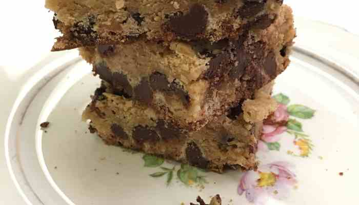 Easy Homemade Chocolate Chip Blondies