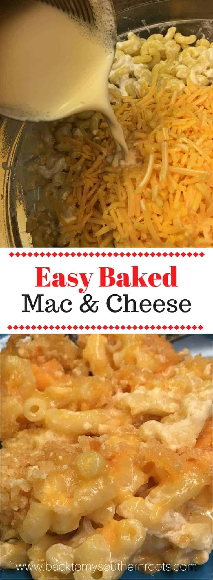 Easy Homemade Baked Macaroni and Cheese is an easy and cheap supper to fix. It's a cheesy, creamy, and filling meal that will fill everyone up and have leftovers!