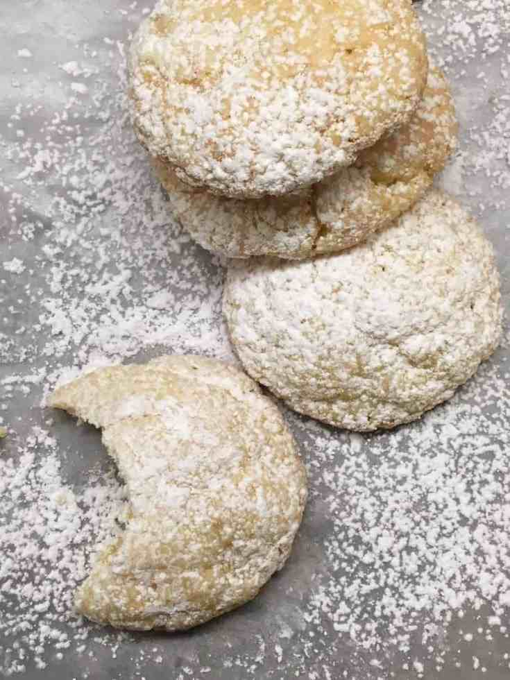 Gooey Cream Cheese Cake Cookies are a great dessert to make for teachers, neighbors, church potlucks, or just eating them all yourself.